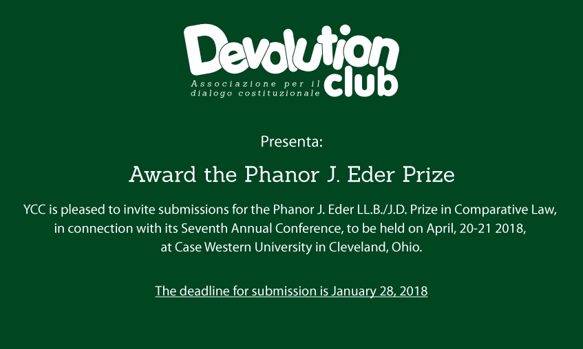 "Award ""The Phanor J. Eder Prize"""