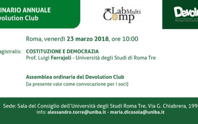 XI Seminario annuale del Devolution Club