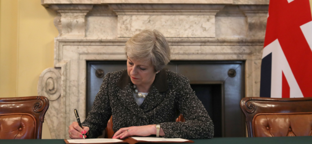 Lettera del Primo Ministro Theresa May ai sensi dell'art. 50 TUE
