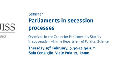 Seminar – Parliaments in secession processes