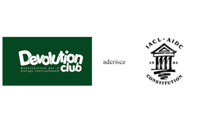Il DEVOLUTION CLUB aderisce all'International Association of Constitutional law