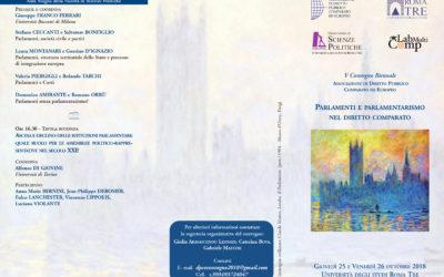 V Convegno Bienniale – Parlamenti e Parlamentarismo nel diritto comparato