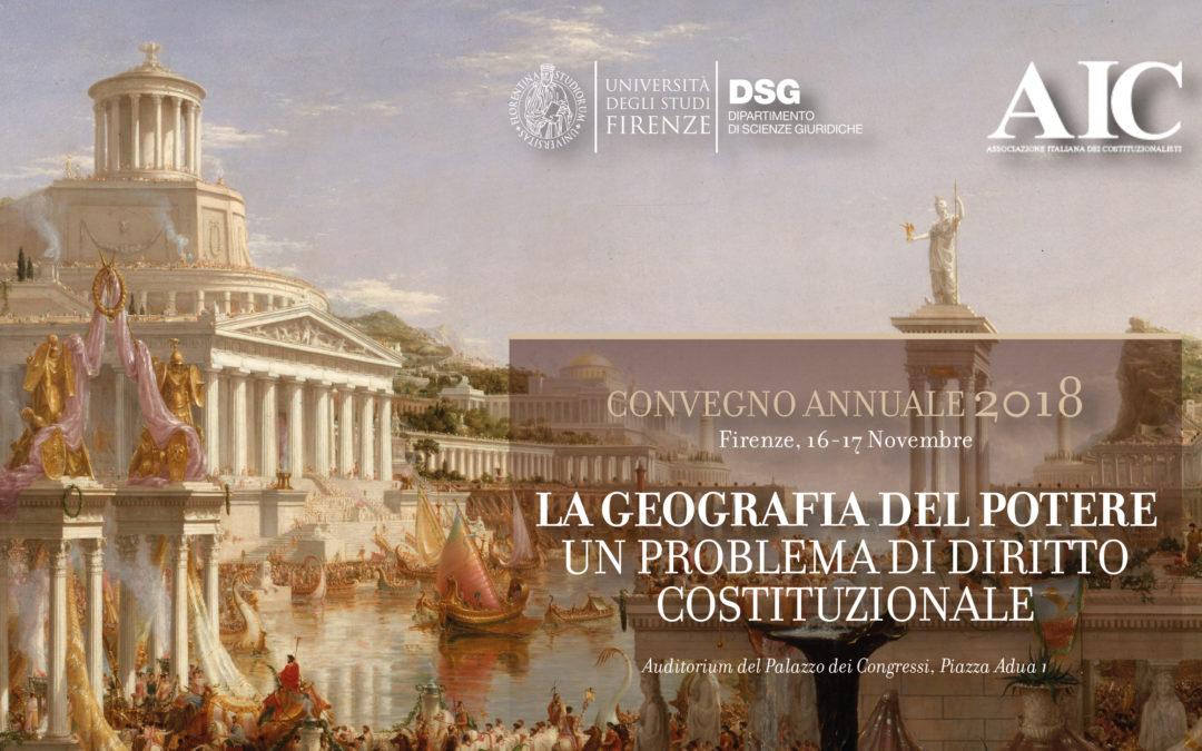 """Convegno Annuale 2018 """"La geografia del Potere"""""""