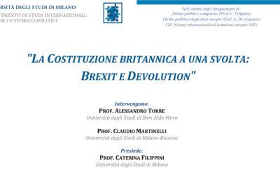La Costituzione Britannica a una svolta: Brexit e Devolution