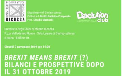 Brexit means Brezit (?) – Bilanci e prospettive dopo il 31 ottobre 2019