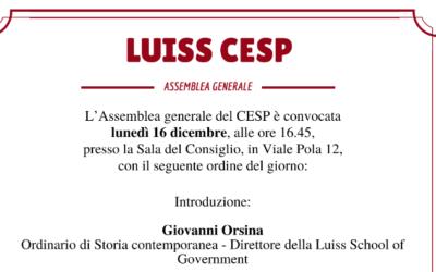 Luiss CESP – Assemblea Generale