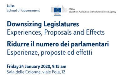 Ridurre il numero dei parlamentari – Esperienze, proposte ed effetti