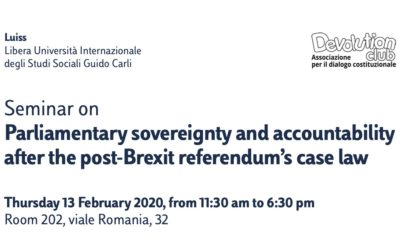 Parliamentary sovereignty and accountability after the post-Brexit referendum's case law